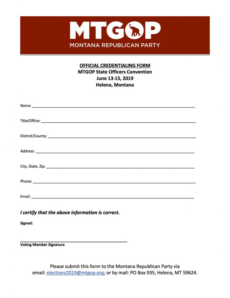 MTGOP: Credentials / Proxy Forms for the 2019 State Officers